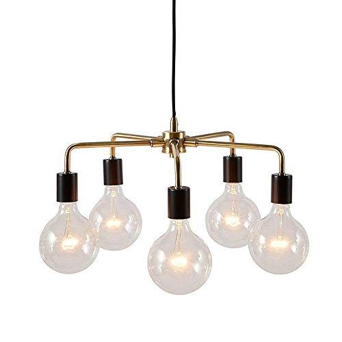 Tao-Miy Lumière intérieure 5 lumières d'île, Fini Noir Mat, éclairage de lustres industriels légers et Multiples