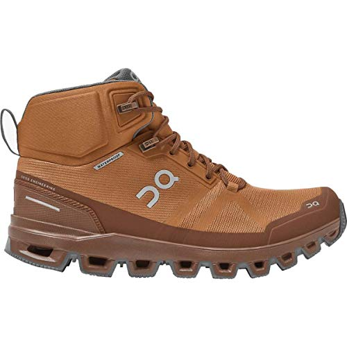 ON Running Cloudrock Waterproof Trail Hiking Boots (Pecan | Rock, Numeric_11)