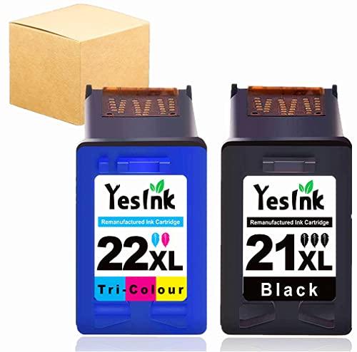 21XL 22XL Cartucho de Repuesto para Cartucho HP 21 22 Cartucho Tinta HP 21 22 Cartucho HP 21 y 22 Compatible con HP PSC 1410, HP Deskjet F2280 F4180 (1 Black 1 Trio - Color)