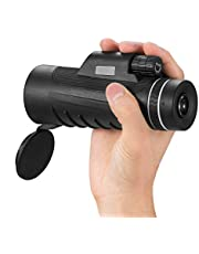 DEMACO Monocular Telescope 40x60 High Powered Monocular Scopes Dual Focus Optics Waterproof, Magnification Lens Telescope for Outdoor Hiking, Bird Watching Hunting, Camping