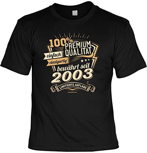 lustiges T-Shirt 18 Geburtstag 18 Jahre Shirt Leiberl Geschenk zum 18 Geburtstag 18 Jahre Geburtstagsgeschenk 18-jähriger Gr: L