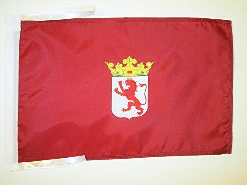 AZ FLAG Bandera de la Provincia DE LEÓN 45x30cm - BANDERINA LEÓN ENCastilla Y LEÓN 30 x 45 cm cordeles