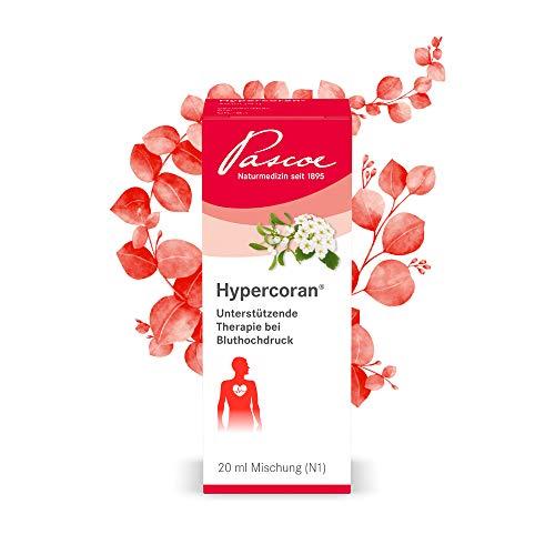 Pascoe® Hypercoran: natürliche Unterstützung bei Bluthochdruck - mit Mistel & Weißdorn - gut kombinierbar mit anderen Medikamenten, wie klassischen Blutdrucksenkern - vegan - 20 ml