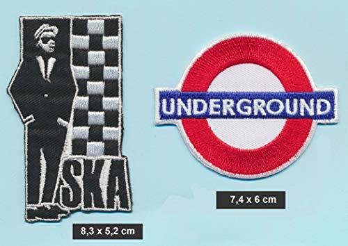 Ska Underground - Parches para Planchar 2 Unidades