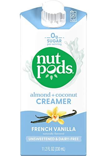 nutpods Dairy-Free Creamer Unsweetened (French Vanilla, 12-pack) - Whole30 / Paleo / Keto / Vegan / Sugar Free 11.2 Fl Oz (Pack of 12)