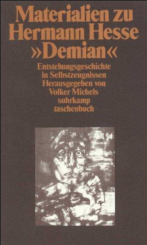 Materialien zu Hermann Hesse, Demian I: Eine Entstehungsgeschichte in Selbstzeugnissen und Dokumenten: 1947 (Suhrkamp Taschenbuch)