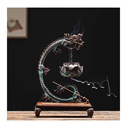 Quemador de incienso Titular reflujo quemador de incienso de cobre del incienso por Stick / Cone / Bobina de incienso del dragón reflujo de incienso de la fragancia regalos Zen Inicio Accesorios de va