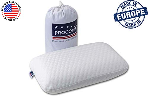 VISCO LOVE ProComf Travel and Camping Mate/Baby/Kid's/Teen's/Adult's Memory Foam Pillow (White)