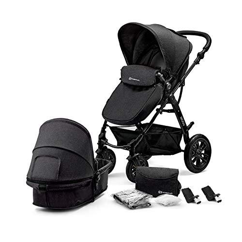 Kinderkraft Pram 2 in 1 Set MOOV, Travel System, Baby Pushchair, Buggy, Foldable, Rear and Front...