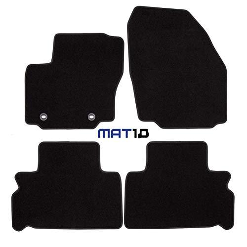 MAT10 – Black Line: Ford S-MAX 5 plazas y Galaxy 5 plazas Van año 2006 – 05 – 2012 – 07 Auto Alfombrillas Alfombrillas Coche Coche Dilour punzonado 4 Piezas Negro Ajuste garantizado