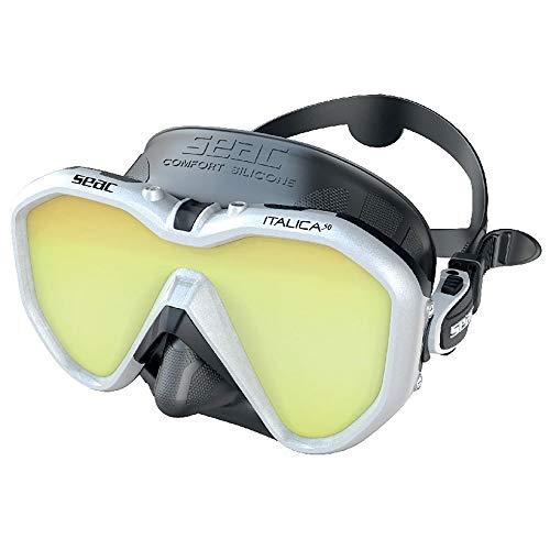 SEAC Italica - Máscara de Buceo (de una Sola Lente para Buceo Profesional, recreativo y Snorkeling)