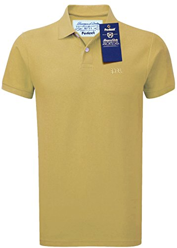 Perfect Range - Polo - Polo - Uni - Col Chemise À Patte Boutonnée - Homme Or Yellow(Gold) Grand