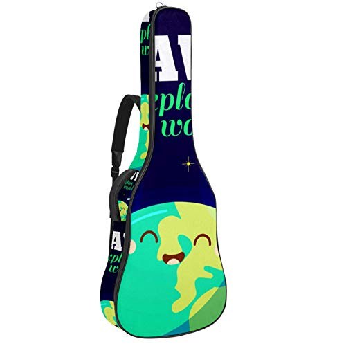 Bolsa de guitarra impermeable con cremallera suave para guitarra, bajo, acústico y...