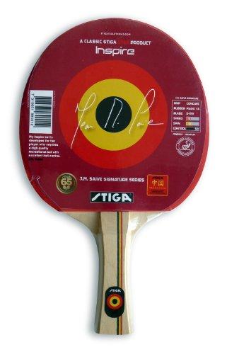 Stiga Inspire - Pala de Ping Pong (Bolas), Color Rojo, Talla UK: Concave