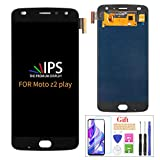 Compatible with Moto Z2 Play Screen Replacement,for Moto Z2 Play XT1710-01 XT1710-02 XT1710-06 XT1710-07 LCD Display Touch Screen Digitizer Assembly Parts,with Screen Protector+Tools(Black)