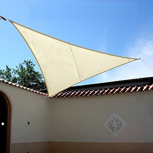 Dekowelten Luxus Sonnensegel dreieck der ExtraKlasse 4,50m Creme TOP Qualität auch Regenschutz wasserdicht