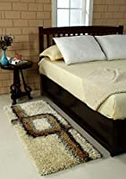 "Size = Length x Width = 22""55 inch or 55*140 cms Material: Polyester, 3D Design, Pattern: Modern Package contains one bedside runner . Actual product photograph. Colors can be slight different from the picture shown due to varied resolution or lighti..."