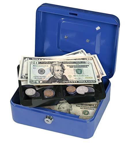 First Alert Caja para dinero en efectivo, 0.1 cu. ft, Azul