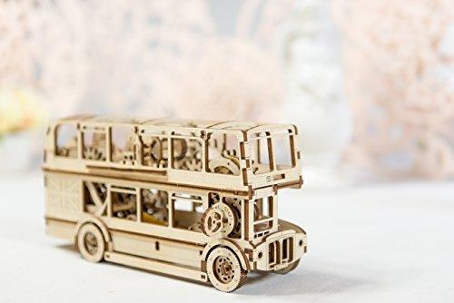 DOPPELDECKER / Londoner Bus als Holzbausatz mit Mechanik WR303