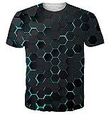 uideazone Camiseta de manga corta unisex con impresión 3D y diseño gráfico de manga corta para hombres y mujeres