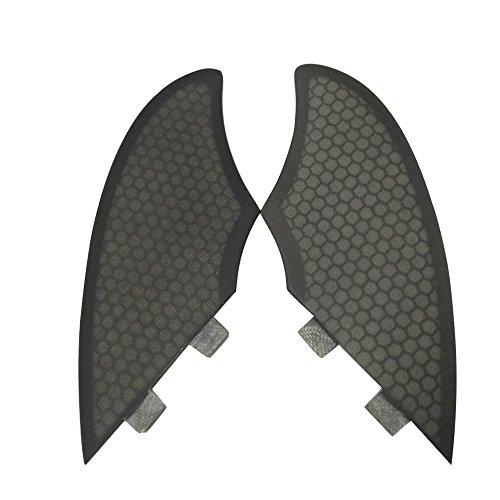 UPSURF Tabla de Surf Fibra de Vidrio Aletas Surf Estilo Tener Panal Aleta de Quilla Thruster Set (FCS-Grey)