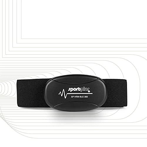 SportPlus Brustgurt, Pulsmesser zur Messung der EKG-genauen Herzfrequenz, uncodierter 5 kHz Pulsgurt, 100 cm Reichweite, kompatibel mit fast allen Cardio-Geräten, SP-HRM-BLE-300