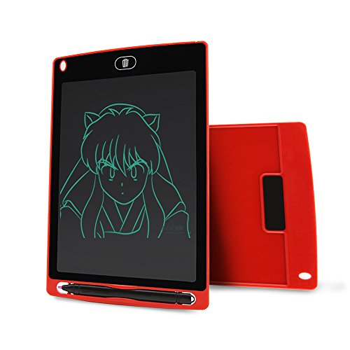 AOGVNA 8.5 Inch LCD Writing Tablet Drawing and Writing Board Handwriting Pads Best Paperless Digital Write Drawing Tool Easy Magic Eraser with Stylus for Kids and Business (Red)