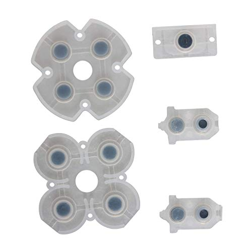PS4 Buttons, ENDARK Ersatzteile leitfähige Gummi-Pads Taste Tastatur-Kit für Playstation 4 PS4 Controller Gamepad JDS-030 (2 Sätze)