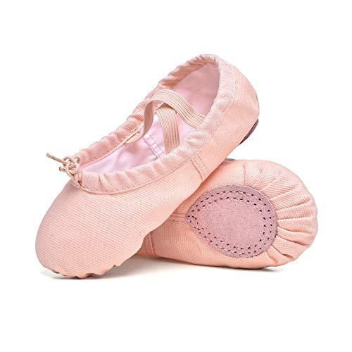 STELLE Zapatillas de ballet para niñas, zapatos de ballet de lona, zapatillas de baile y yoga