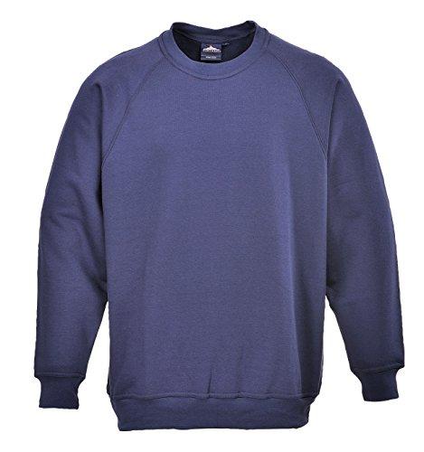 Portwest B300NARL Grand sweatshirt en polycoton pour femme Bleu marine