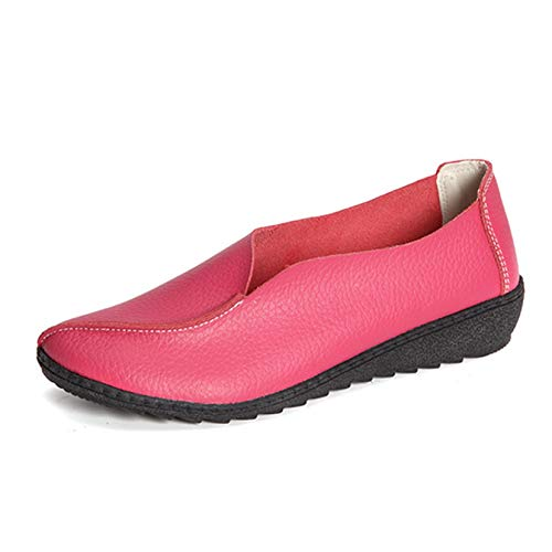 Zapatos de tacón Alto, Moda, Deslizamiento en Las señoras, Primavera otoño, Gruesos, Boca Baja, Zapatos de Trabajo para Caminar por la Calle de Cuero Suave para Vestir
