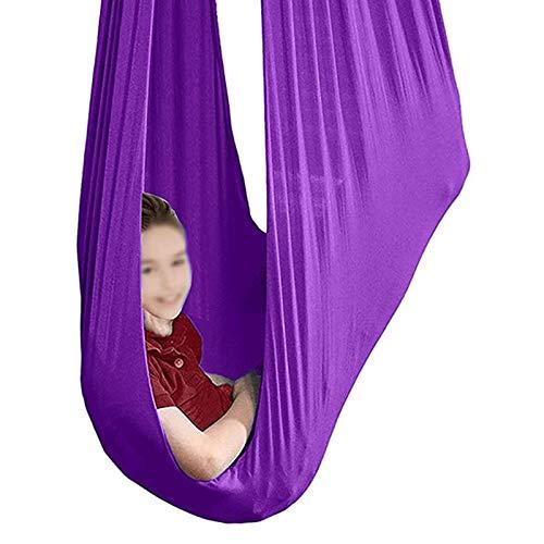 YXYH Columpio Terapia Interior para Niños Necesidades Especiales Hamaca Interior Aire Libre Terapia Columpio Asiento para Niños Juegos Juguetes Sensoriales (Color : Purple, Size : 100x280cm)