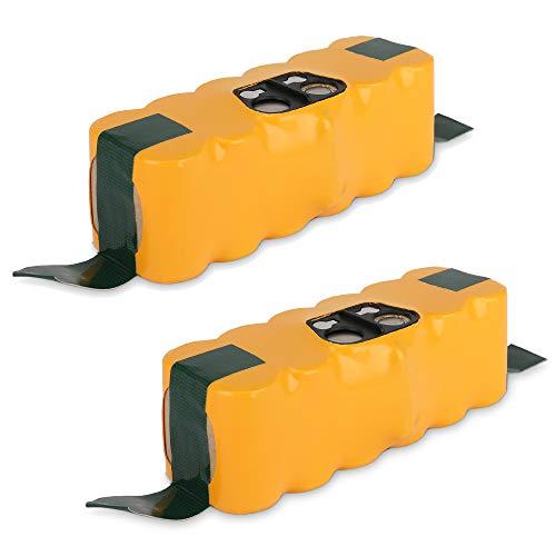 CELLONIC 2X Batería Premium (14.4V, 3300mAh, NiMH) Compatible con iRobot Roomba 800,870,871,880,780,770,620,650,620,565,530,500,520,550-11702, VAC-500NMH-33, Pila reemplazo herramiente