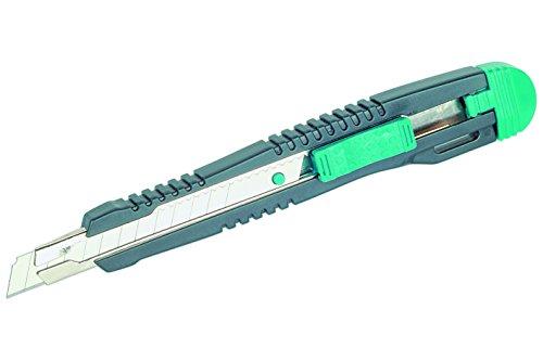 Wolfcraft 1 Standard Cutter, Abbrechklingenmesser mit Edelstahl-Klingenführung und 9 mm Klinge, 4141000