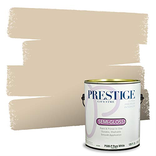 Prestige Paints P500-P-SW6141 Interior Paint and Primer in One, 1-Gallon, Semi-Gloss, Comparable Match of Sherwin Williams Softer, 1 Gallon, SW141-Softer Tan