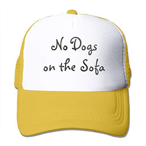 Blacaboer Shop No Dogs on The Sofa Trucker Hats Classic Cotton Adjustable Baseball Plain Cap Custom Hip Hop Dad Trucker Snapback Hat Yellow One Size