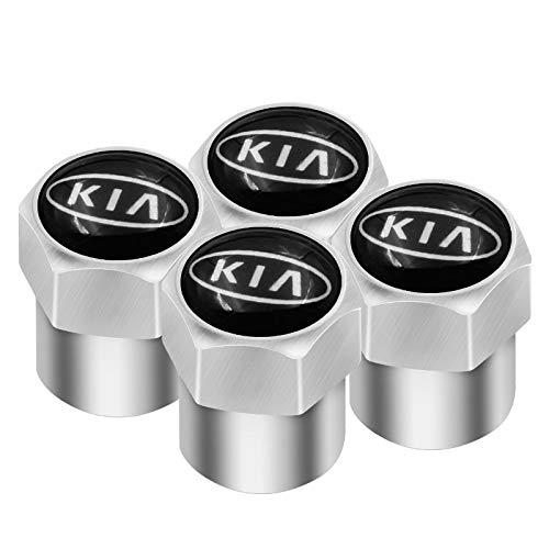 4 Uds Insignia de Coche Tapa de válvula de neumático de Rueda Tapa Antipolvo para KIA K2 K3 K5 Sorento Sportage R Rio Soul Tapa de Estilo de Coche Gorra de Accesorios de Coche