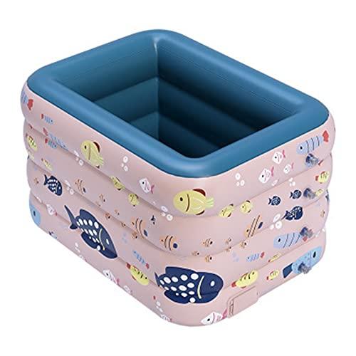 RWEAONT 2021 inalámbrico inalámbrico Inflable Piscina Grande al Aire Libre CLORURO DE POLIVINILO Piscina de plástico bebé y niños Piscina para el hogar (Color : 1.2m Pink)