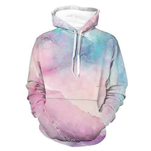 Sudaderas con capucha para hombres y mujeres iridiscentes de mármol sudadera con capucha ropa deportiva de moda de viaje suéter de la camisa sin forro polar sudadera con capucha