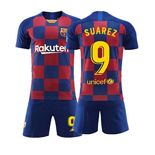 Crstal Herren Breathe Fußball-T-Shirt 9# Suarez Trikot Shorts und Socken Kinder und Jugend Größe (Size:28)