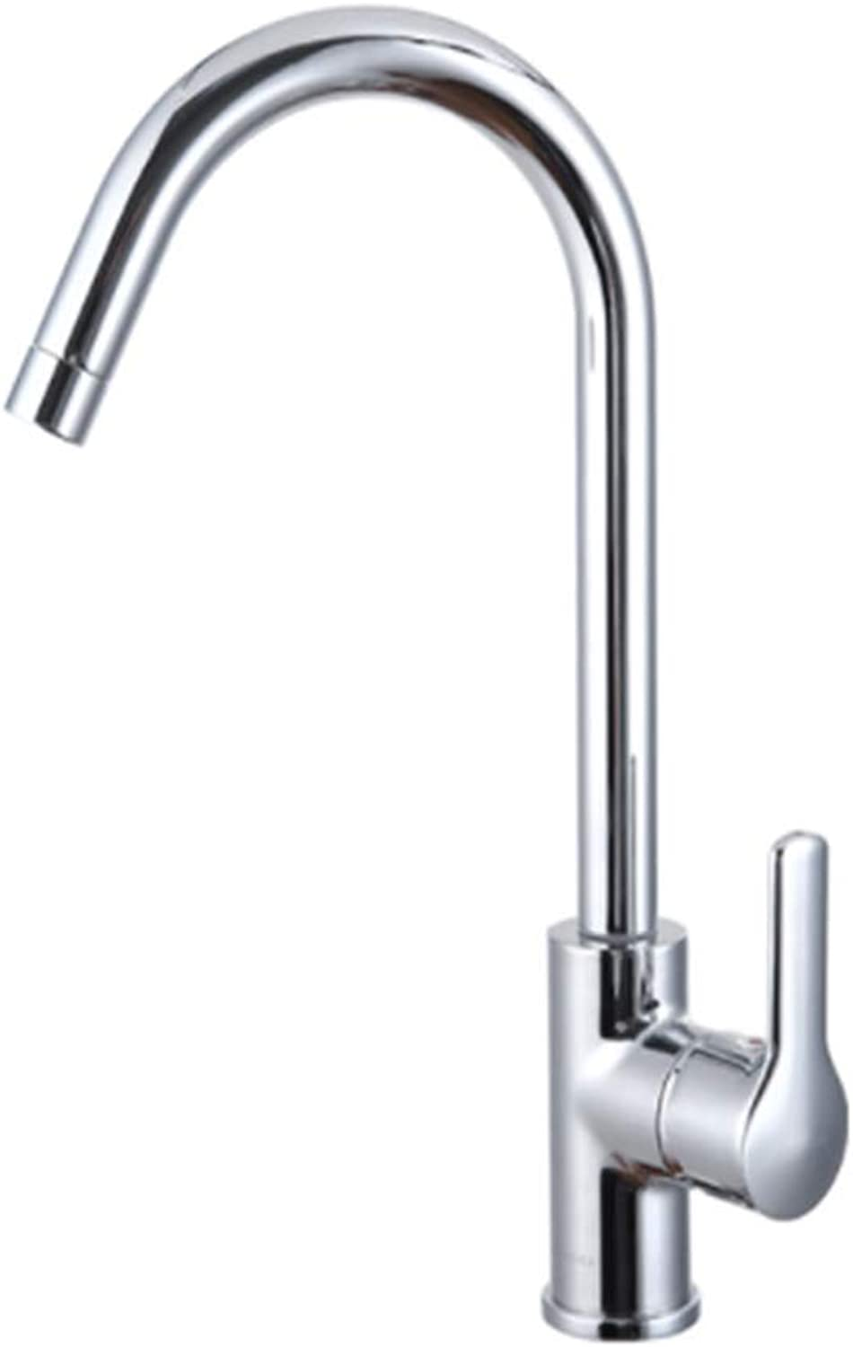 Kitchen Taps Faucet Modern Kitchen Sink Taps Stainless Steelkitchen Faucet Single Hole Faucet Sink Hot and Cold Ceramic Disc Valve Core Faucet redatable Double Tank Vegetable Washer Faucet
