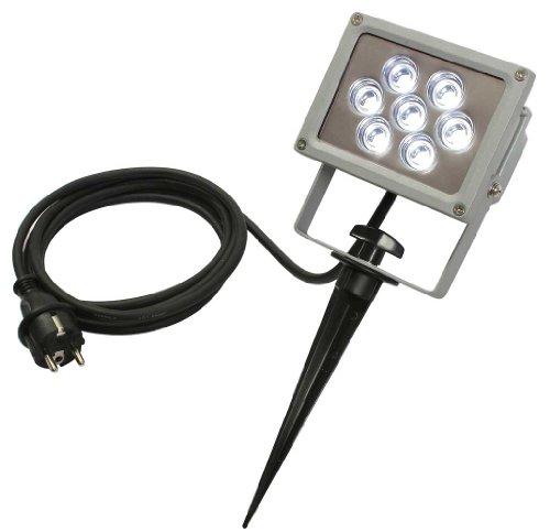 as - Schwabe 60697 Erdspieß mit Profi-LED-Strahler 7W, 1.5 m H05RN-F 3G1,0, IP44 Aussenbereich