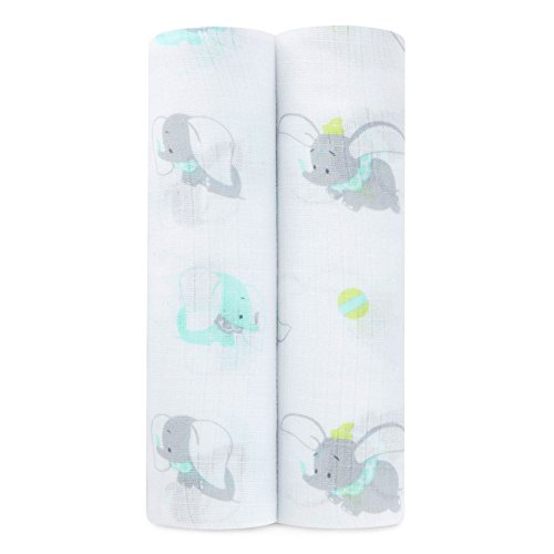ideal Baby by The Makers of Aden + Anais Swaddle 2 Pack, Dumbo 2-Pack