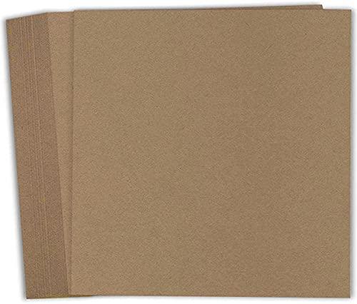 Hamilco Papel kraft de color marrón para álbumes de recortes, 12 x 12 pulgadas, cubierta de 36,3 kg, 25 unidades