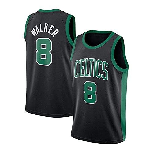 WEIZI New Celtics # 8 Kemba Walker Jersey, Chaleco Deportivo para Hombre, Amplio y cómodo, S-2XL, Negro, Blanco y Verde