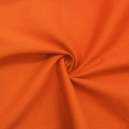 MAGFYLYDL Tela vaquera de la yarda de tela vaquera, color engrosado sarga lavado Denim, utilizado para el diseño de costura, costura multicolor, bricolaje (color: naranja)
