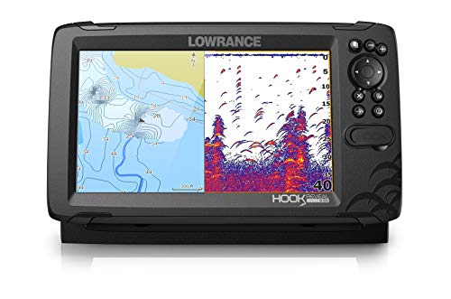 Lowrance Hook Reveal 9 TripleShot - 9-inch Fish Finder with TripleShot Transducer, C-MAP Contour+ Chart Card