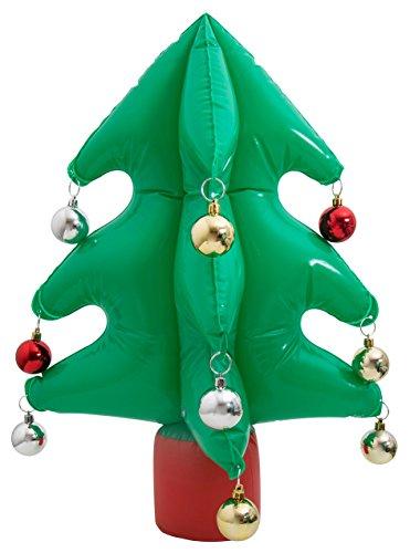 thumbsUp. Hinchable Árbol de Navidad, plástico, Verde, 45x 16.8x 5.5cm