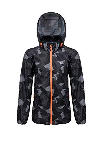 Mac in a Sac® - Veste imperméable Edition - Unisexe - Se replie dans Une Pochette - Imprimé Camouflage Noir - XL