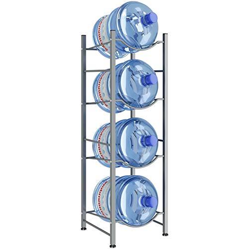 AIYAKA Estante para jarra enfriador de agua de 4 niveles, Porta jarra enfriador de agua, Estante para almacenamiento de botellas de...